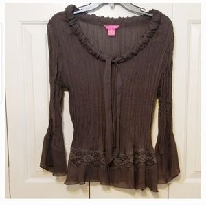 Sunny Leigh brown blouse